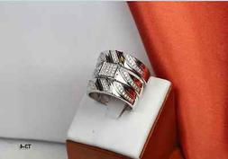 0.72CTW HIS AND HERS STERLING SILVER 925 NICKEL FREE ENGAGEM