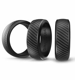 Ikonfittness 3 Packs Flexible Silicone Wedding Rings Anniver
