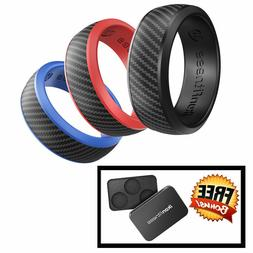 Ikonfittness 3 Color Silicone Rubber Wedding Ring Rubber for