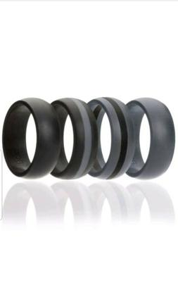 4 -Pack  ROQ Silicone Wedding Ring For Men