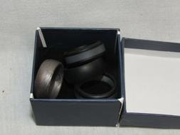 4pk silicone wedding rings mens size 10
