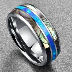 8mm Creative Rings Mens Wedding Ring Finger Accessories Band