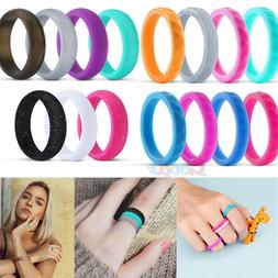 8x Silicone Rings Wedding Rubber Bands for Women & Men Decor