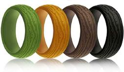 Cabepow Silicone Wedding Ring for Men,4 Packs  Mens' Rubber