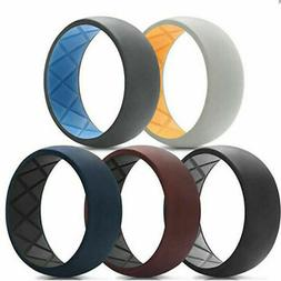 Egnaro Men Sport Rubber Ring Wedding Fashion Silicone Band C