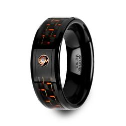 Thorsten HELSING | Mens Tungsten Ring | Black Ceramic Weddin