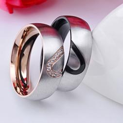 Hot Sale Simple Titanium Steel Plated Couple Rings for Men W