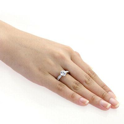 3.5mm Platinum Plated Silver 1.25ct CZ