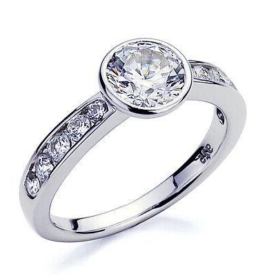 3 5mm platinum plated silver 1 25ct