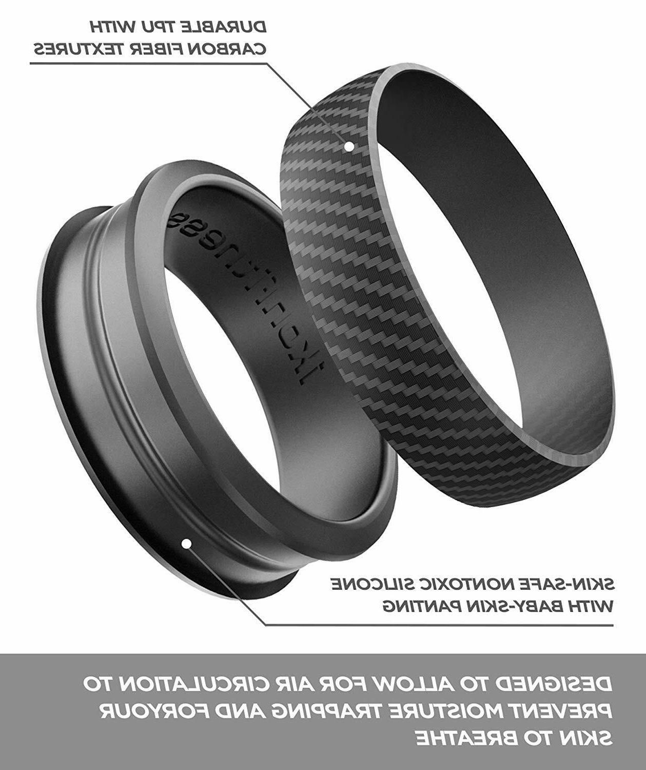 Ikonfittness 3 Silicone Rings Bands Men