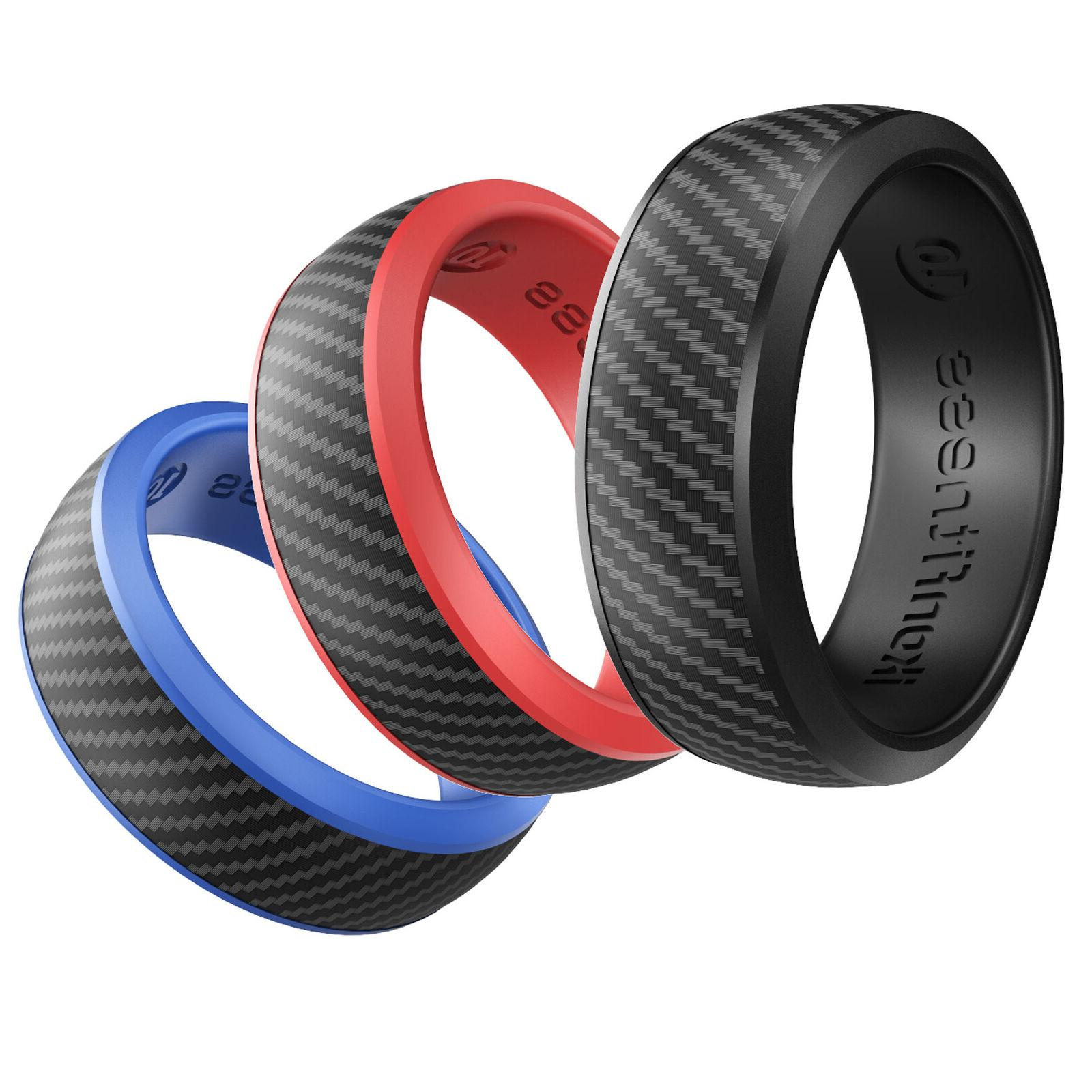 New For Women Men 3 Colors Silicone Rings Rubber Wedding Ban