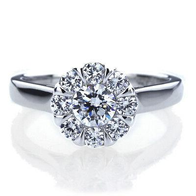 7 5mm platinum plated silver 1ct cz