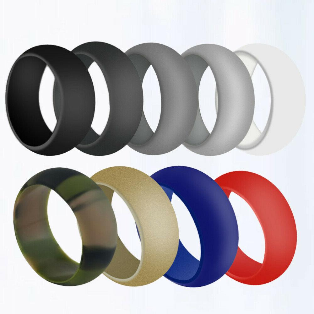 9 pcs Sports Silicone Round Simple Ring Cleaning