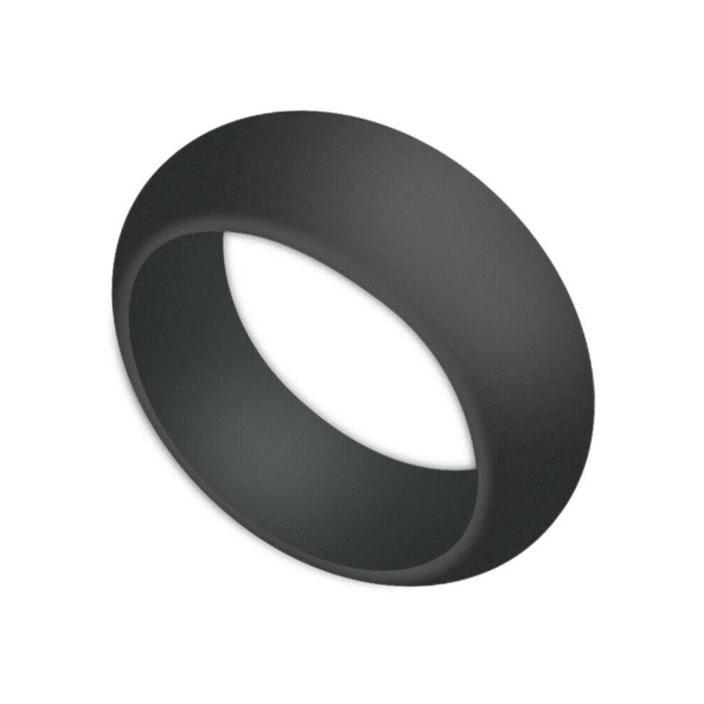 9 pcs sports rings silicone round simple