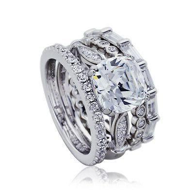 9mm platinum plated silver 2 7ct cz