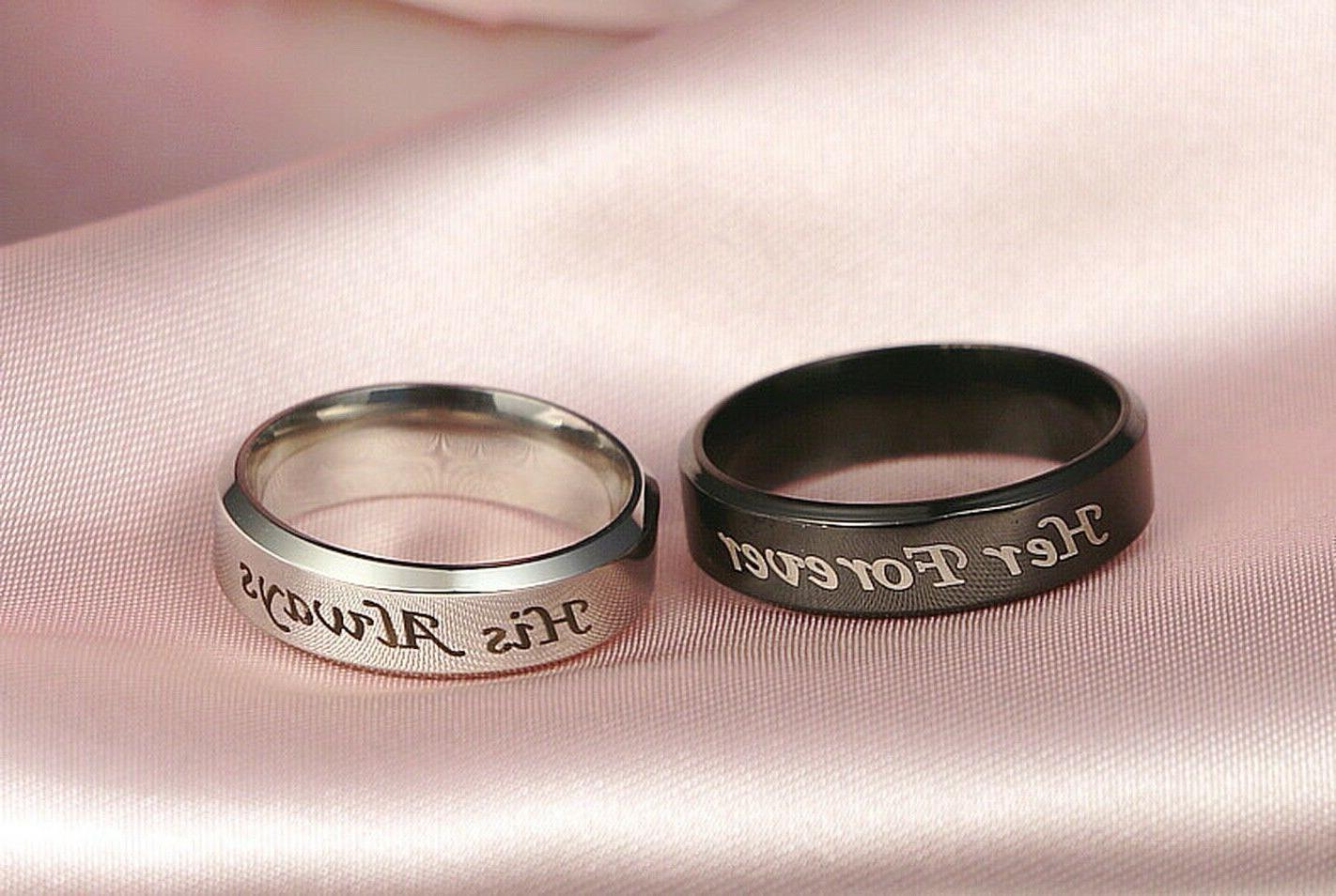 Couple's Matching Promise His Her Forever Men Band