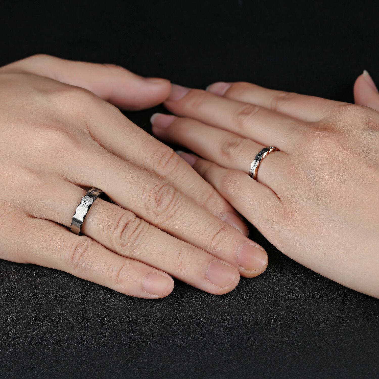 """Couple's Matching """"Will always with you"""" His Her Wedding"""