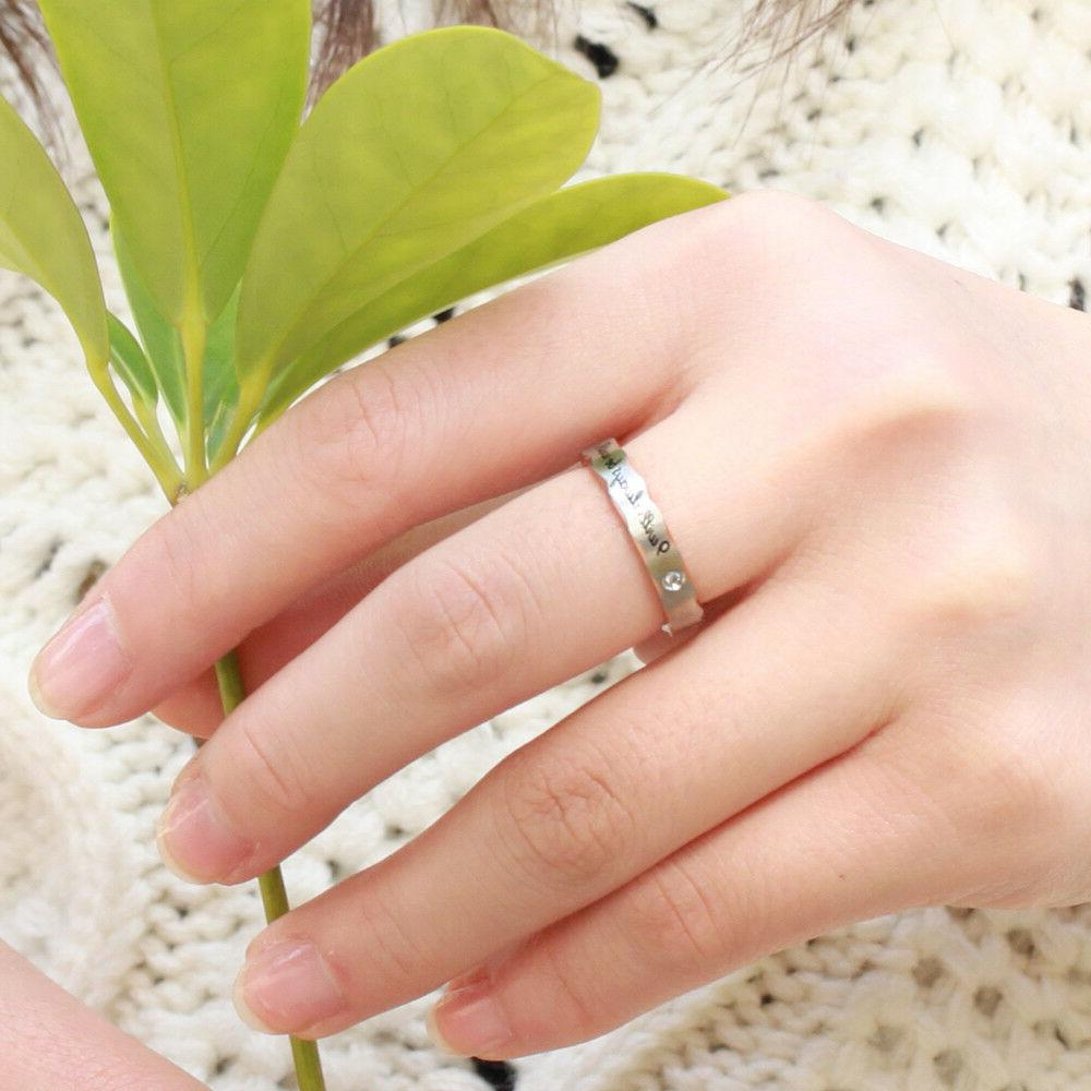 """Couple's Promise Ring """"Will you"""""""