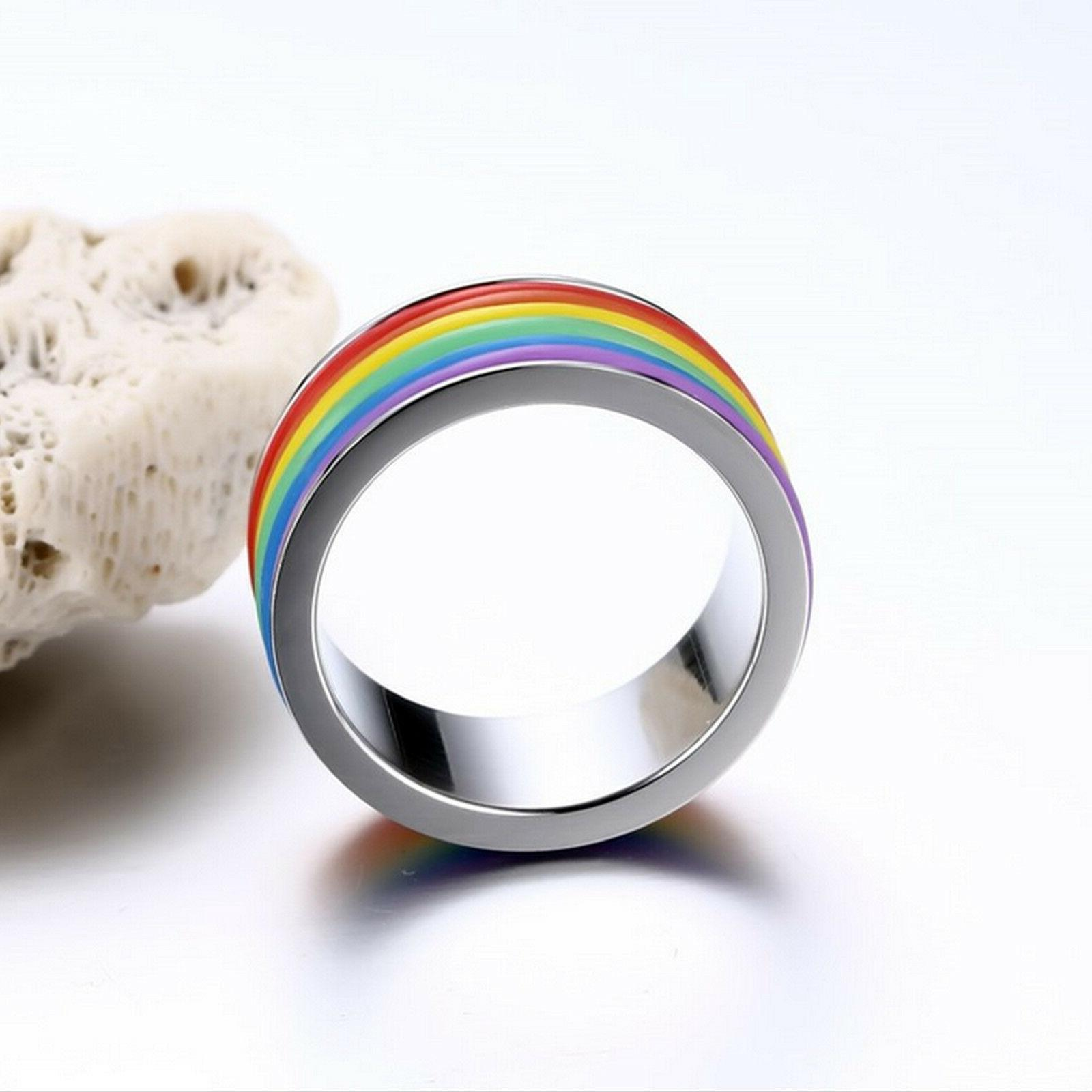 Gay Ring LGBT Pride Silicone Unisex 9mm