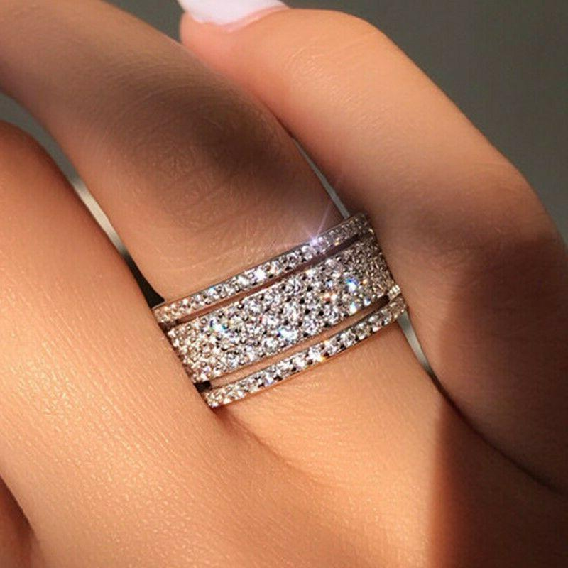 gorgeous jewelry 925 silver rings white sapphire