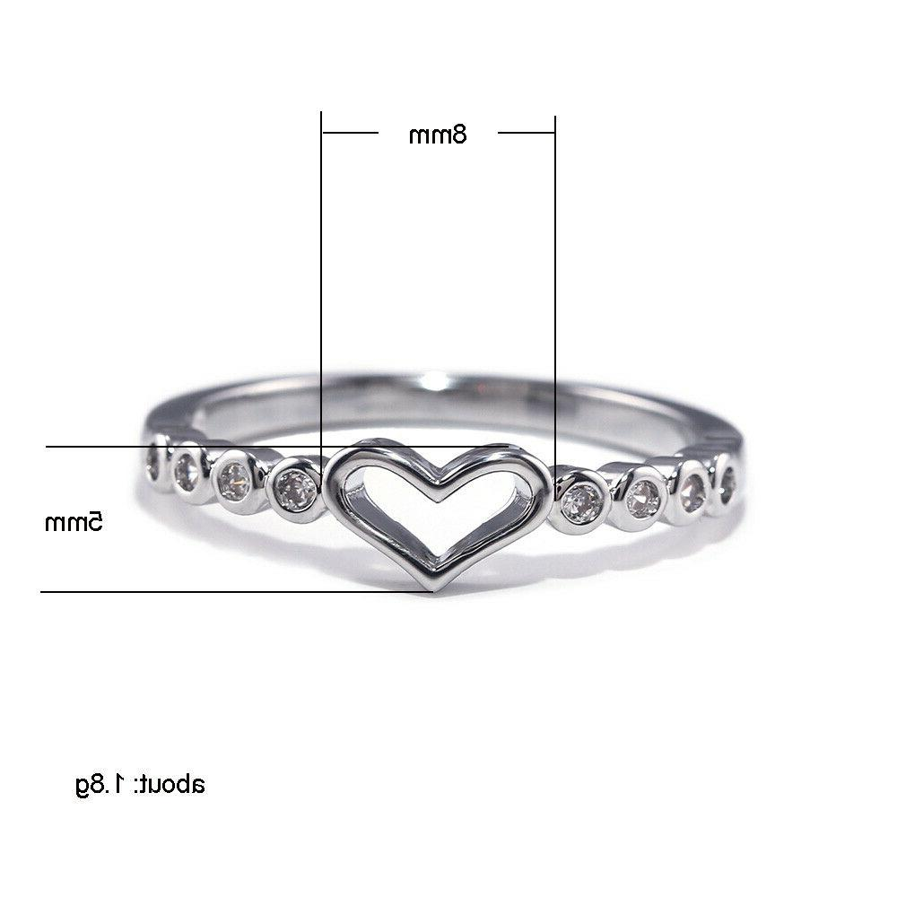 Heart 925 Ring Size 6-10