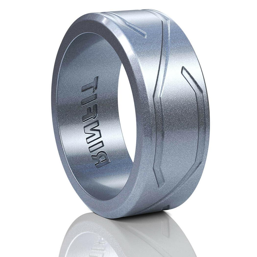 men s silicone wedding ring rubber band