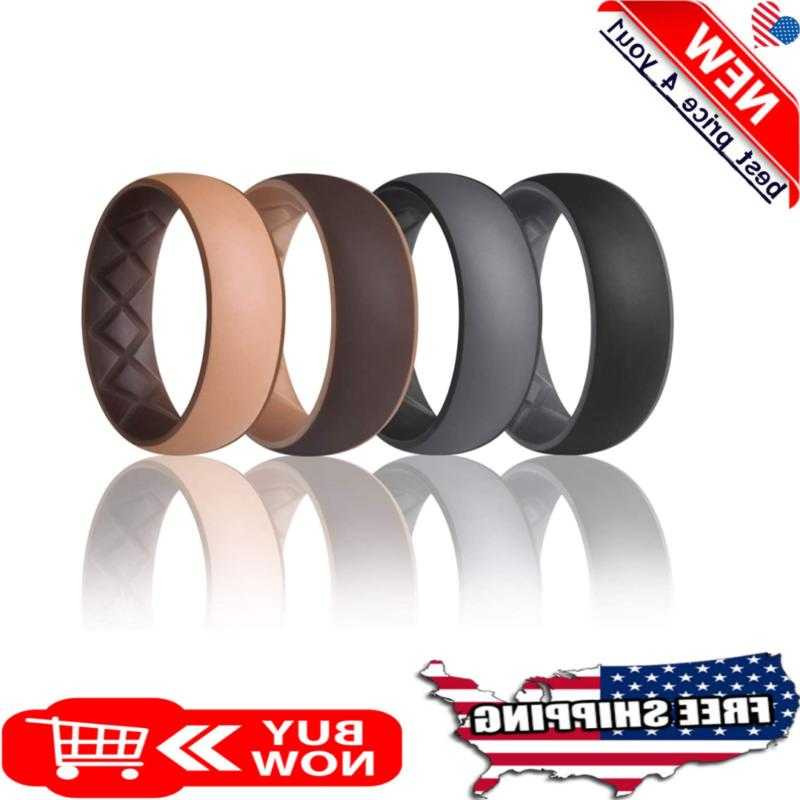 men silicone wedding rings rubber ring engagement