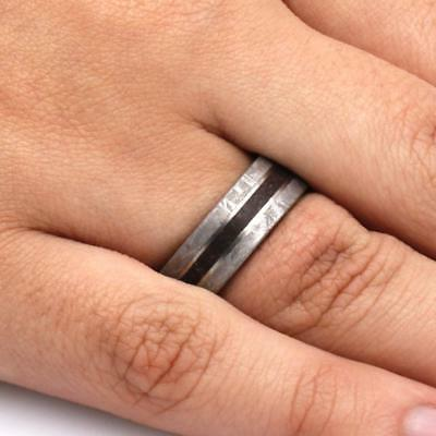Mens Fossil Ring Gibeon Wedding Band-SIG3026