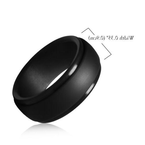 mens silicone wedding ring breathable rubber wedding