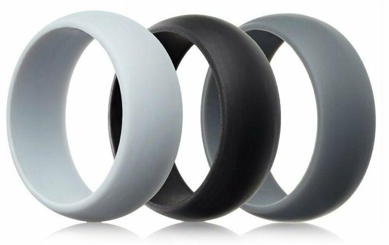 Thunderfit Mens Silicone Rings Wedding Bands 5 4 Pack / 3