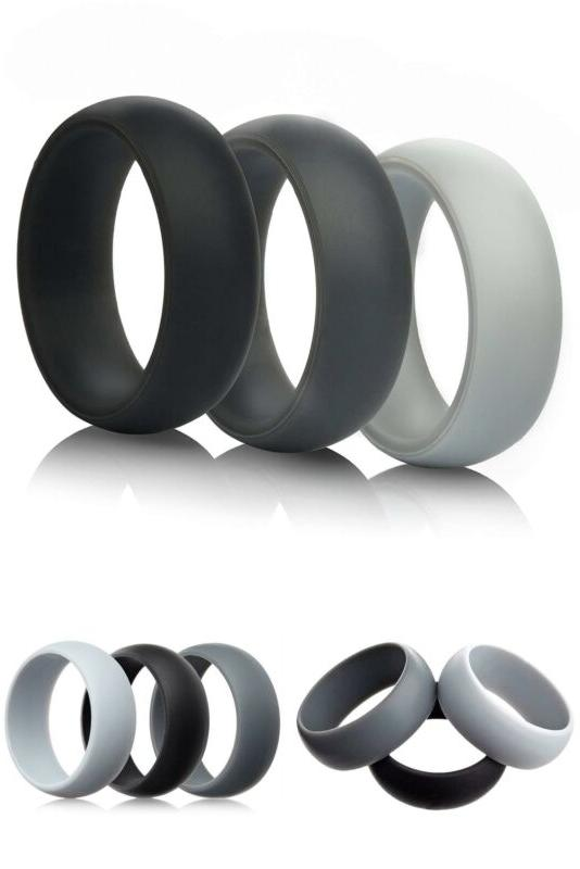mens silicone wedding rings wedding bands 5