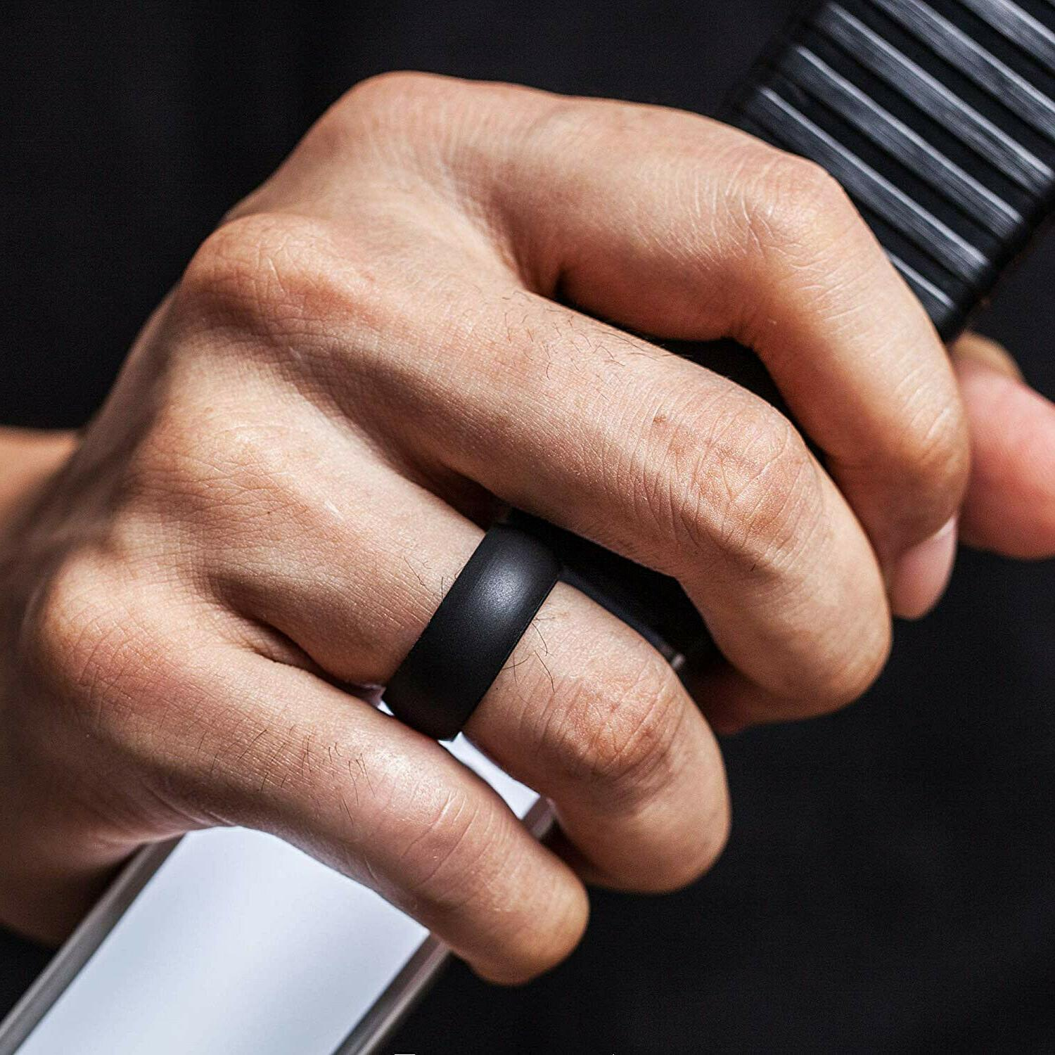 NEW Thunderfit Silicone Rings Men's Rubber Wedding Promise S