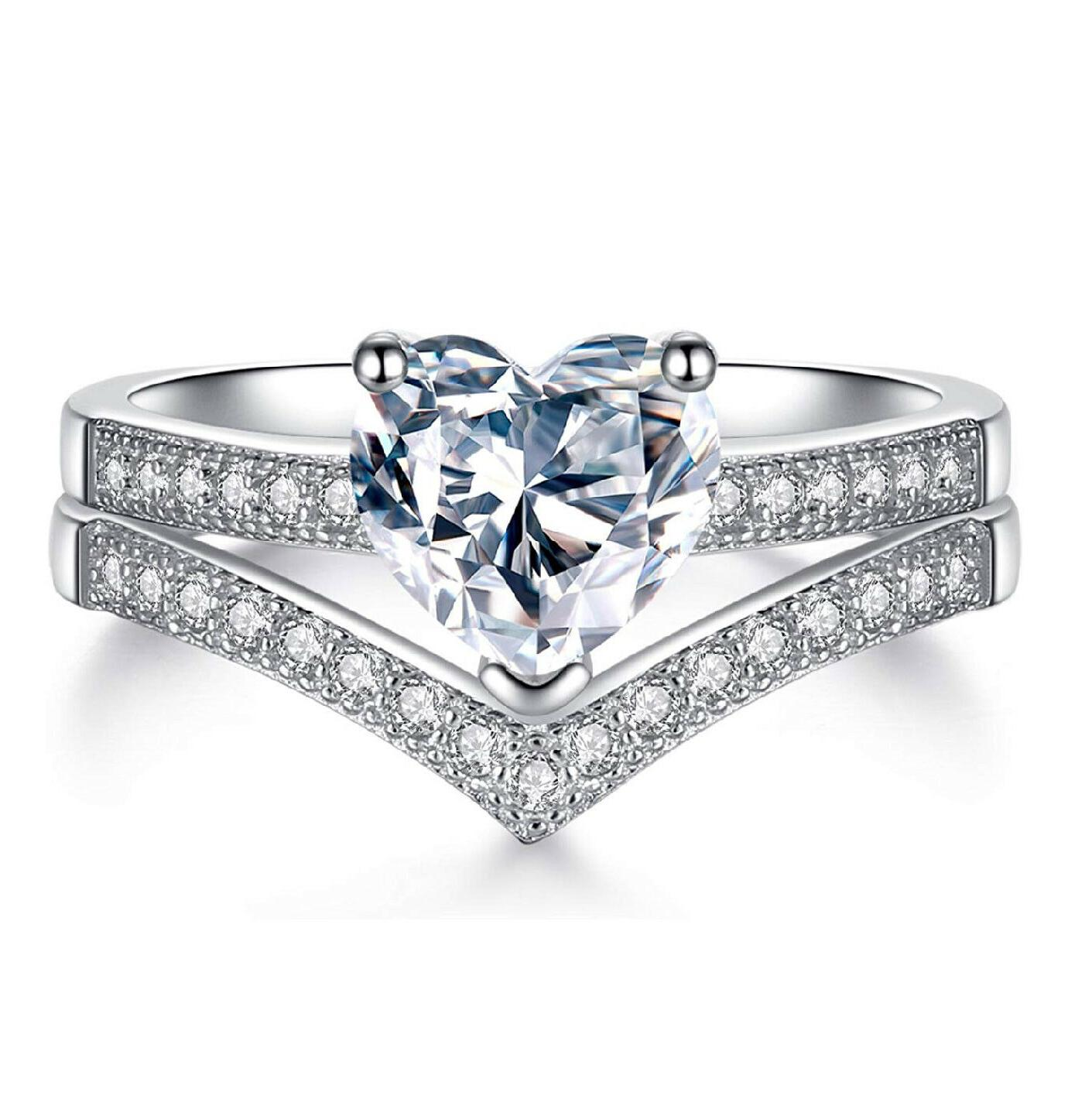 Promise for Her 1ct Zirconia 925 Silver Wedding