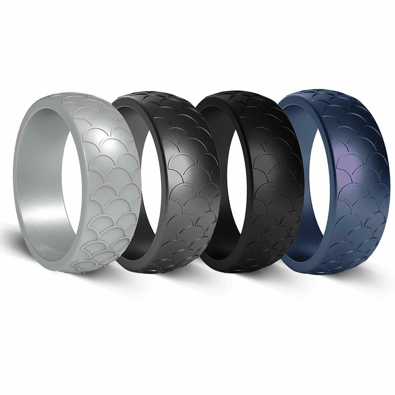 Silicone Men Sleek Rubber Bands Safe Rings