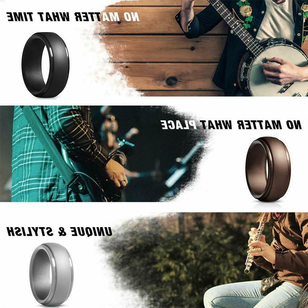 Silicone Ring Men Bands Safe