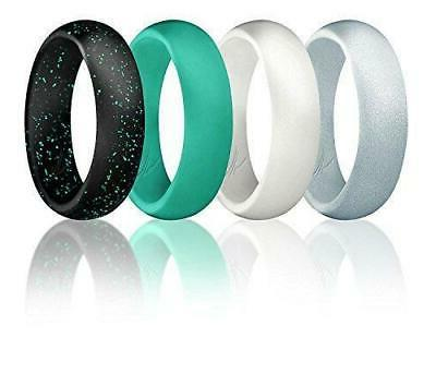 silicone wedding ring for women set of