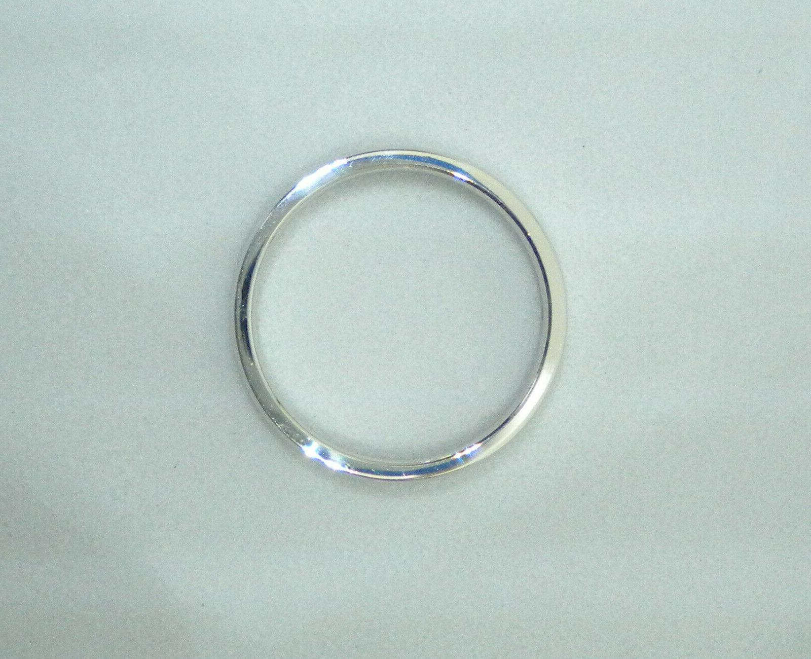 Solid White 3 mm Band 2.9 g Made USA Size Women's