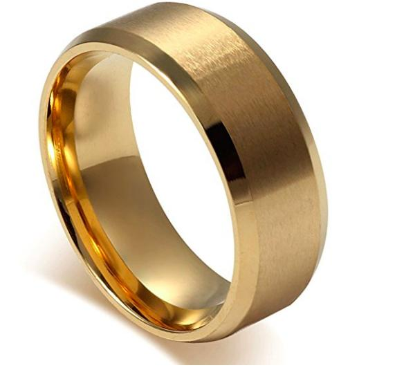 Jstyle Stainless Rings for Men's Ring Simple Size