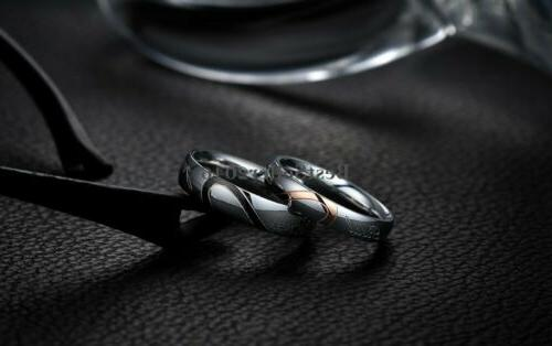"""Stainless Steel Love """" Promise Engagement Band"""