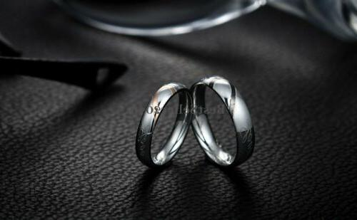 """Stainless Steel """" Love Heart Promise Engagement Band"""