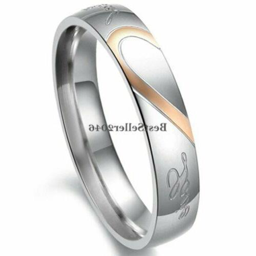 """Stainless Love """" Heart Promise Ring Band"""