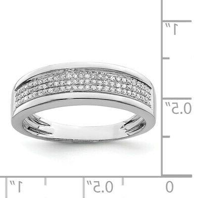 Sterling Silver Men's Band