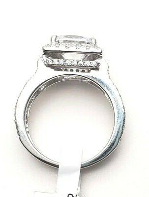Women's Solid Real 925 CZ Promise Wedding
