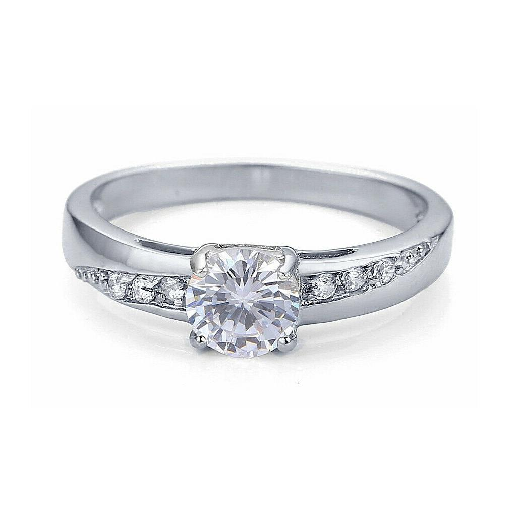 Women's Steel Cubic Zirconia Wedding Ring