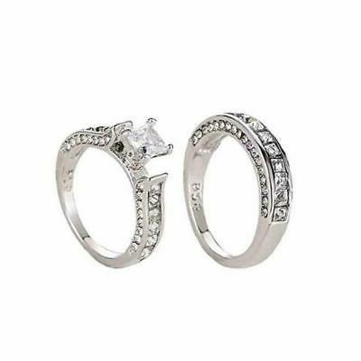 womens 925 sterling silver cz crystal engagement