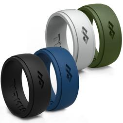 Men's Silicone Wedding Ring / Wedding Band - 4 Rings Pack -