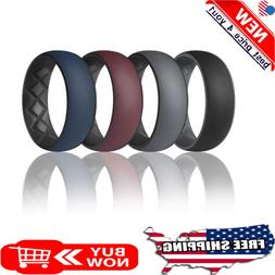 Men Silicone Wedding Rings Rubber Ring Engagement Band Worko