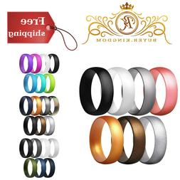 Men Women Silicone Trendy Ring Wedding Rubber Bands His Hers