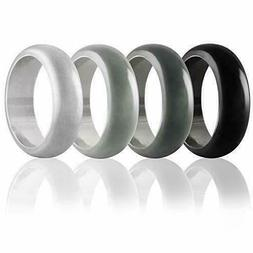 Mens Wedding Breathable Workout Comfortable Ring Bright Sili
