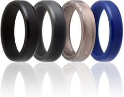 Roq Silicone Wedding Ring For Men And Women, 6Mm Affordable
